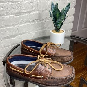 Dexter Brown Leather Boat Shoes Size 6